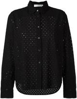 Peter Jensen perforated detail shirt