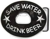 JEAN'S FRIEND New Save Water Drink Beer Bottle Opener Vintage Belt Buckle Gurtelschnalle