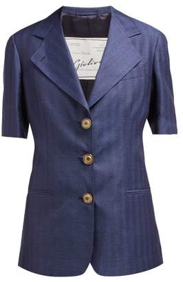 Giuliva Heritage Collection The Ginestra Cashmere And Linen-blend Blazer - Womens - Navy