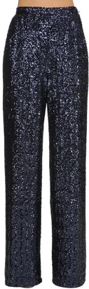 Wide Leg Sequined Pants