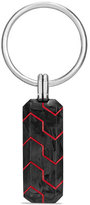 David Yurman Forged Carbon & Resin Key Chain, Red
