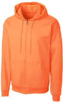 Clique Neon Orange Fleece Zip-Up Hoodie - Unisex