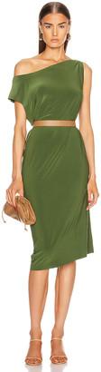 Norma Kamali for FWRD Drop Shoulder Dress in Oliva | FWRD