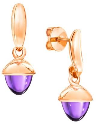 Tamara Comolli Mikado Flamenco 18K Rose Gold & Amethyst Acorn Earrings
