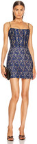 Rasario for FWRD Lace Corset Mini Dress in Blue | FWRD