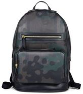 Burberry Cow Grain Leather Trimmed Camouflage Backpack