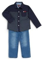 7 For All Mankind Boy's Two-Piece Shirt & Pants Set
