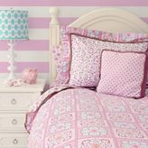 Caden Lane Modern Vintage Girl Full Duvet Cover in Pink