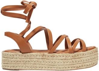 Zimmermann Lace-up Leather Platform Sandals