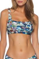 Becca Jane Square Neck Camo Bikini Top
