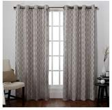Exclusive Home Baroque Textured Linen Look Jacquard Window Curtain Panel Pair - Exclusive Home®