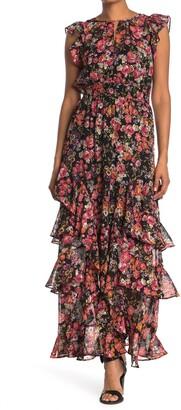 Rachel Roy Issa Floral Ruffled Maxi Dress