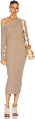 Enza Costa Sweater Knit Slouch Dress in Taupe | FWRD
