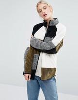 Monki Color Block Fleece Jacket