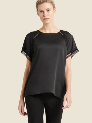 DKNY Lace Trimmed Top