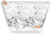 Stephanie Johnson Large Laura Carrara Marblelite Trapezoid Cosmetic Pouch