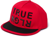 True Religion True Red Block Letter Flat Peak Cap