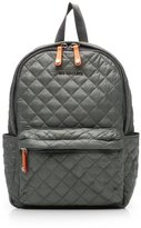 M Z Wallace Small Metro Backpack Steel Metallic Oxford