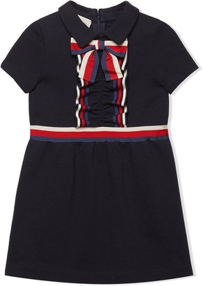 Gucci Kids Children's Cotton Dress With Web