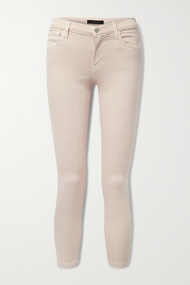 J Brand - 835 Cropped Mid-rise Skinny Jeans - Pink
