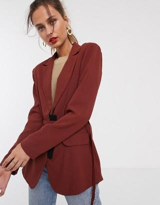 UNIQUE21 tailored belted blazer