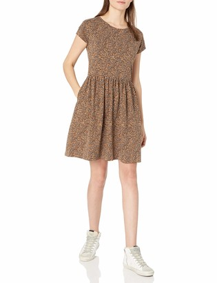 Goodthreads Heavyweight Cotton Slub Short-Sleeve Gatheredwaist Easydress Dress