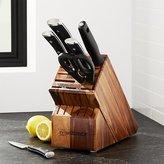 Crate & Barrel Wüsthof ® Classic Ikon 7-Piece Acacia Knife Block Set