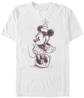 Fifth Sun Tee Shirts WHITE - Minnie Mouse White Sketch Tee - Adult