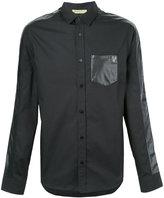 Versace contrast panel shirt - men - Cotton/Polyester - S