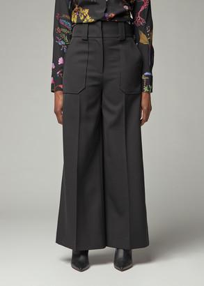 Stella McCartney Women's Hi Waisted Wide Leg Pantalone in Black Size 38