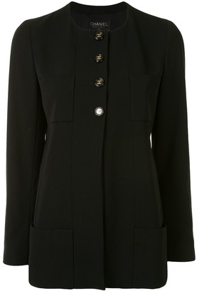 Chanel Pre Owned 1995 Collarless Buttoned Jacket