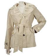 As Is Centigrade Packable Trench Jacket with Self Belt