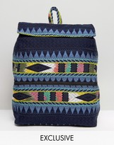 Reclaimed Vintage Inspired Boxy Festival Backpack
