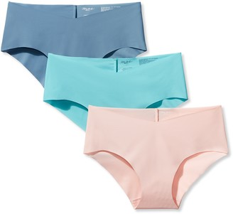 Mae Women's No Show Infinity Edge Hipster 3-Pack Pastel Fashion Large