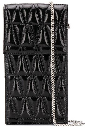 Versace Virtus quilted crossbody phone-holder