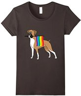 Gay Pride Boxer Dog T-Shirt
