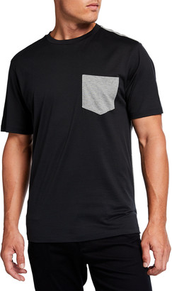 Theory Men's Combo Pique Luxe Cotton Jersey Tee