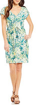 Tommy Bahama Botanico Jungle V-Neck Dress
