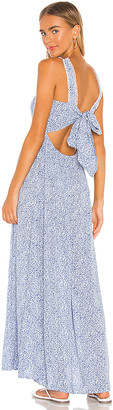 1 STATE Tie Back Vintage Ditsy Maxi Dress