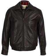 Roundtree & Yorke Lambskin Leather Bomber Jacket