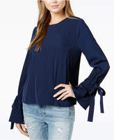 J.o.a. Striped Bell-Sleeve Top