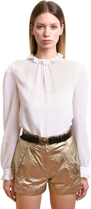 Philosophy di Lorenzo Serafini Ruffled Georgette Blouse