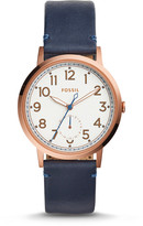 Fossil Everyday Muse Multifunction Indigo-Dyed Leather Watch