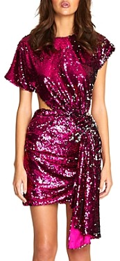 Alice McCall Electric Orchid Sequined Cutout Mini Dress