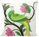 Nourison Whimsical Green Bird Outdoor Pillow