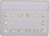 Valentino Grey Rockstud Card Holder