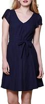 Yumi V-Neck Short Sleeve Dress, Navy