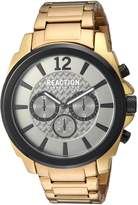 Kenneth Cole Reaction Men's 'Sport' Quartz Metal and Stainless Steel Casual Watch, Color:Gold-Toned (Model: 10031948)
