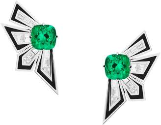 Stephen Webster White Gold and Emerald Dynamite Couture Large Earrings