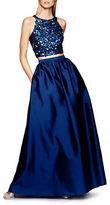 Adrianna Papell Sequined Top and Ball Gown Skirt Set
